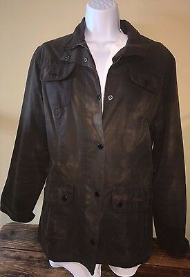 vintage BARBOUR  Jacket - Waxed Cotton - Size 10
