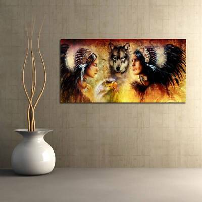 Unframed Modern Abstract Oil Painting Native Men Women Huge Wall Decor On Canvas