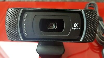Logitech Carl Zeiss Tessar Lens HD C910 Webcam 1080p - Black
