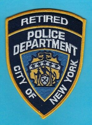 New York City Police Department Retired Police Officer Patch ~ Awesome ~ L@@k