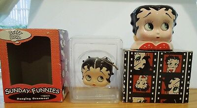 Lot of 2  Vintage BETTY BOOP Cup/Mug 1995 and BETTY BOOP Ornament 1999~MINT!