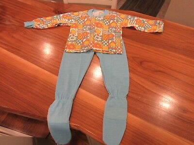 Vtg Carters Childrens PJs Boys Girls Sz 4 Toddler NOS 70s Flower Power New Kids