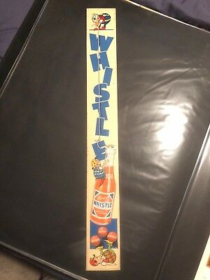 vintage whistle soda sign original cola