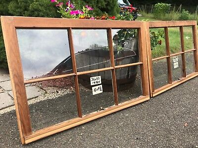 2 - 36 x 23 Matching Vintage Window sash old 6 pane from 1970s Arts & Crafts
