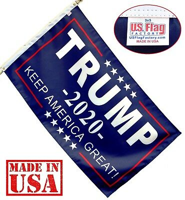 3'x5' Trump 2020 Flag Keep America Great! Flag GROMMETS Made in USA (935Trump20)