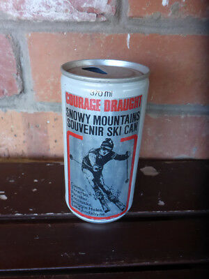 Vintage Australian Courage Beer Collectable Can - Snowy Mountains Skiing