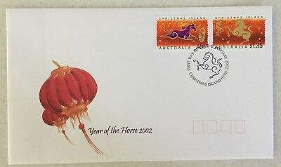 2002 Christmas Island Year of The Horse FDC will combine postage