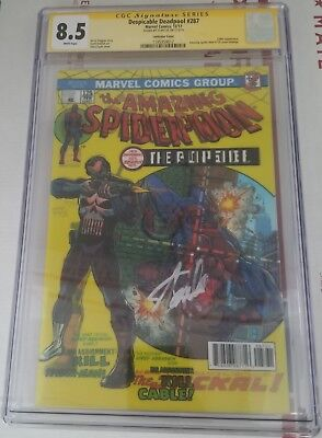 Despicable Deadpool 287 CGC SS Stan Lee Amazing Spiderman 129 Romita Homage 1
