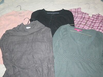 Lot of 5 Long Sleeve Maternity Winter Shirts/Sweaters, size Small/XS