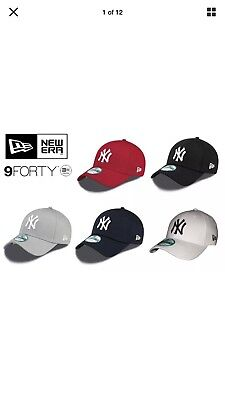 New Era 9Forty Classic MBL NY New York Yankess Adjustable Curve Cap BLACK OR RED