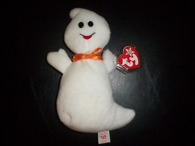 Ty Beanie Babies Baby Halloween White Ghost Spooky W Tags