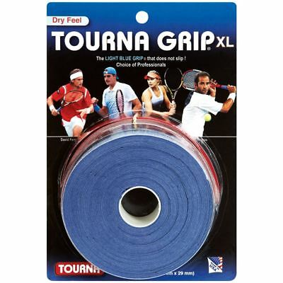 Tourna Grip Original Overgrip XL Dry Feel - Blue  - 10 Pack