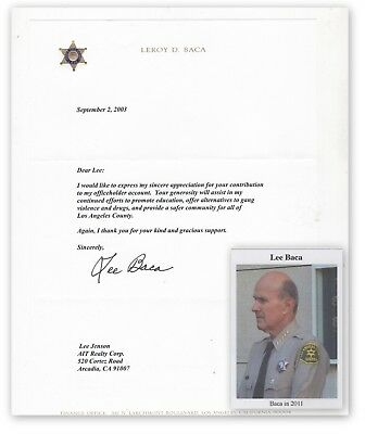 Lee Baca, Los Angeles Sheriff on letter of 2003 (4764