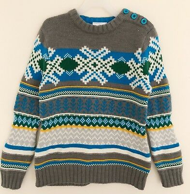 HANNA ANDERSSON Sweater Girl Boy Sz 110 (5/6X) Nordic Gray Blue Long Sleeve