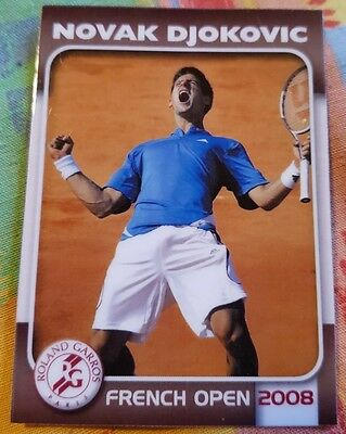 Novak DJOKOVIC 2008 French Open Edition Collectionneur card #12/25 Tennis