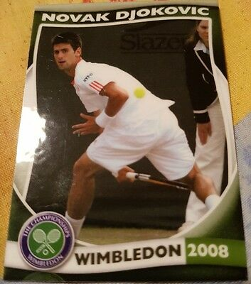 Novak DJOKOVIC 2008 Wimbledon Collector Edition card #22/25 Tennis