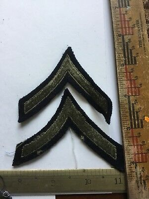 WWII US Army Enlisted Rank Stripes Pair: Private 1st Class PFC Large Mirror