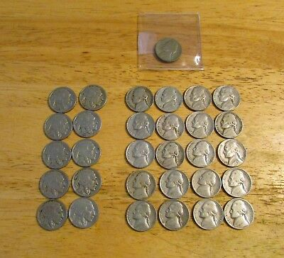 Buffalo and Old Jefferson Nickel lot (includes 1939-D Jefferson)