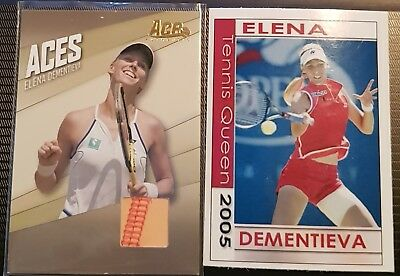 Elena DEMENTIEVA Ace Authentic ACES Jersey Variant Card AC-9 + Tennis Queen 2005