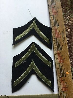 WWII US Army Enlisted Rank Stripes Mint Uncut Lot Private 1st Class PFC