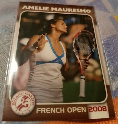Amélie MAURESMO 2008 Tennis French Open Edition Collectionneur card #12/25