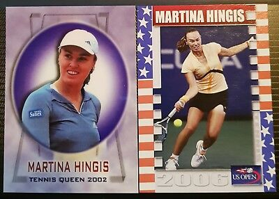 Martina HINGIS 2006 US Open Collector Edition card 10/25 Tennis Queen 2002 01/50