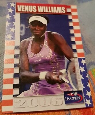 Venus WILLIAMS 2006 Tennis US Open Collector Edition card #11/25