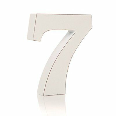 Vintage White Wooden 7 Number