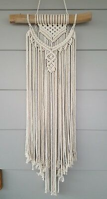 Beautiful Elegant Handmade Macrame Wall Hanging MUST SEE**