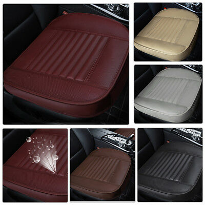 PU Leather Car Seat Cover 3D Breathable Pad Mat For Auto Chair Cushion 50*52cm