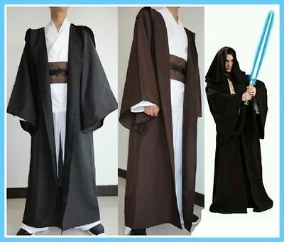 77988182a0 Star Wars Jedi Adult Kid Cosplay Cape Cloak Hooded Costume Halloween Gift  2088
