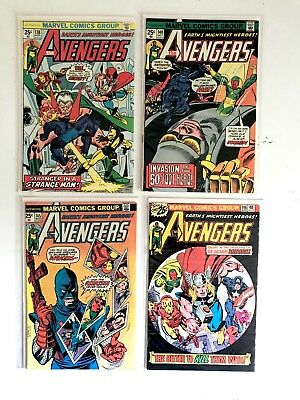 THE AVENGERS #137 140 145 146 1st App of The Assassin! ~ Bronze Age 4 Issue LOT
