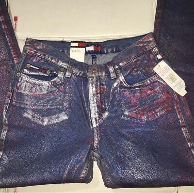 *RARE* Women's Vtg Tommy Hilfiger Jeans Shimmering Glitter AALIYAH 3 NWT KITH