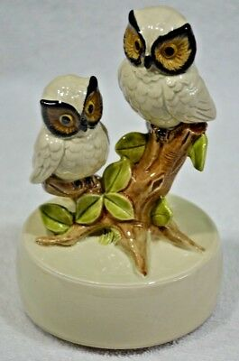 Otagiri Music Box OWLS Windup Vintage 1979