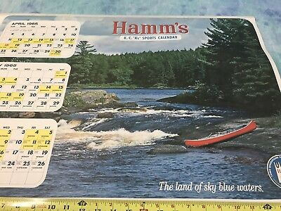 1965 Hamm's Beer Kansas City A'S Sports Wall Calendar 100 Years - NOS