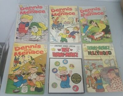 LOT OF (6) Silver Age Dennis The Menace Comic Books Low to Mid Range