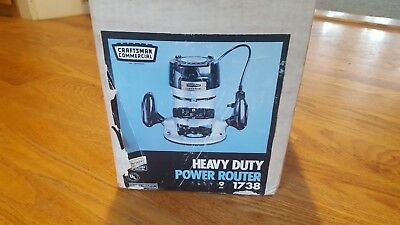 Sears Craftsman Commercial Heavy Duty Ball Bearing Power Router 9-1738 Vintage