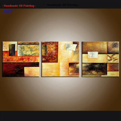 Framed Large Contemporary Abstract Oil Painting Hand-painted Canvas Art Wall H99