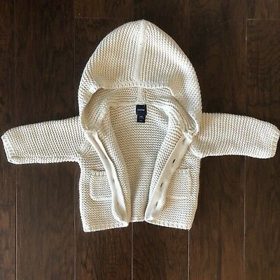 Baby Gap 100% Cotton Knit Cardigan Size 3-6M, EUC
