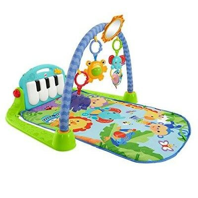 Fisher-Price Baby Kick & Play Piano Gym - Blue , Infant Engagement