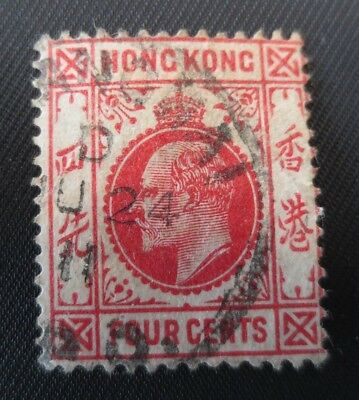 Hong Kong 1904-11 Stamp SC #90 4c UH British Colony from Quality Album