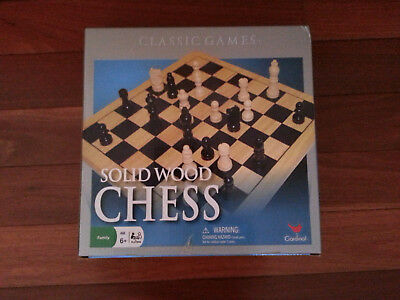 Classic chess game set by Cardinal still in original packaging