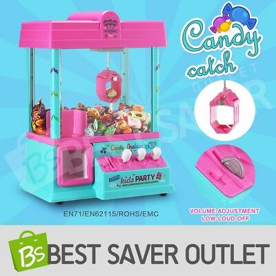 Carnival Style Candy Catch Grabber Mini Toy Claw Machine Kits Arcade Game Pink