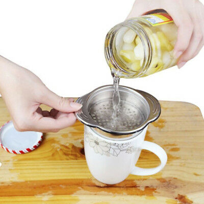 Stainless Steel Food Can Drainer Jar Tin Strainer Kitchen Sieves Sifters Tool D
