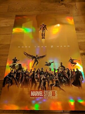 Marvel Studios Avengers The First 10 Years Infinity War Poster (Slight Crease)