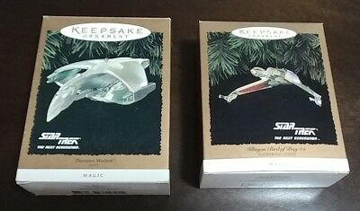 star trek keepsake ornament romulan warbird klingon bird of prey