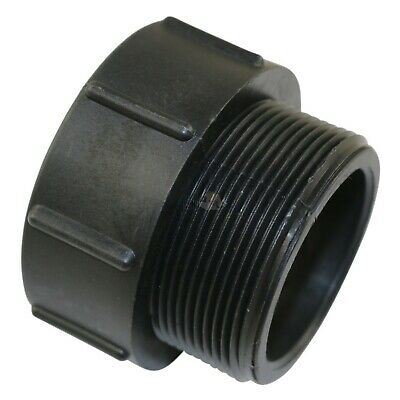 "Nylon IBC to 2"" 51mm Male BSP Irrigation Fitting Heavy Duty Adaptor Adapter"