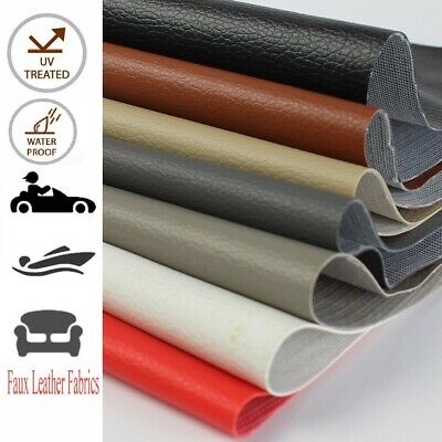 Faux Leather Fabric Vinyl Upholstery Restore Marine & Car Cabin UV/Water Blocker