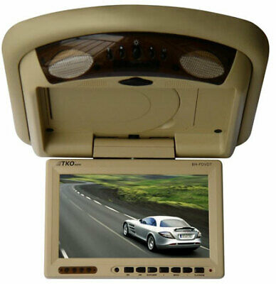 """TKO 7"""" Overhead Ceiling Mount Monitor DVD Player IR Transmitter Remote Control"""