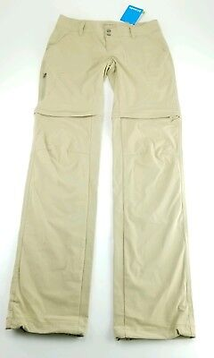 New Columbia Woman's Saturday Trail Convertible Pants Size 4 Long MSRP $65
